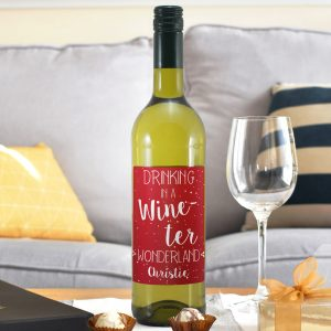 Personalised In a Wine-ter Wonderland White Wine