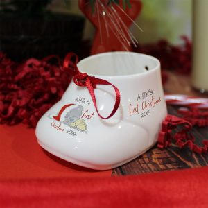Personalised Me To You 1st Christmas Bootie & Bauble Set