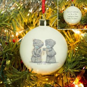 Personalised Me To You Wrapped Up In Lights Bauble