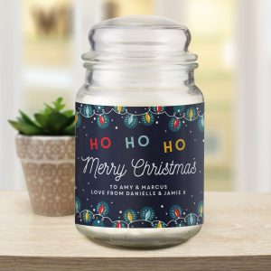Personalised Merry Christmas Candle Jar