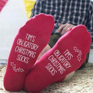 Personalised Obligatory Christmas Socks