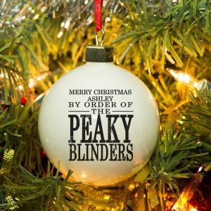 Personalised Peaky Blinders Bauble