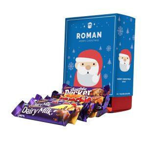 Personalised Santa Cadbury Mixed Favourites Box