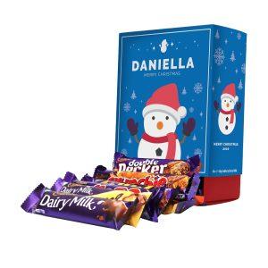 Personalised Snowman Cadbury Mixed Favourites Box