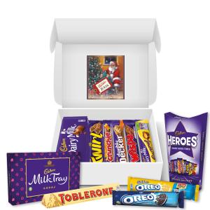 Personalised Vintage Christmas Cadbury Family Hamper