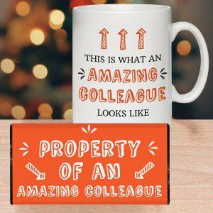 Personalised What Amazing Looks Like Mug & Chocolate Bar Set