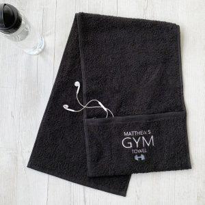 Personalised Zip Gym Towel