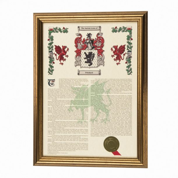 Coat Of Arms & Surname History Framed Print