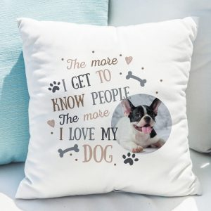 I Love My Dog Photo Upload Cushion