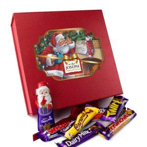Personalised Christmas Eve Box & Cadbury Chocolate Selection