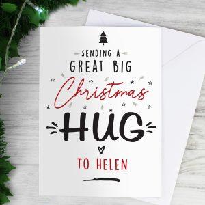 Personalised Christmas Hug Card