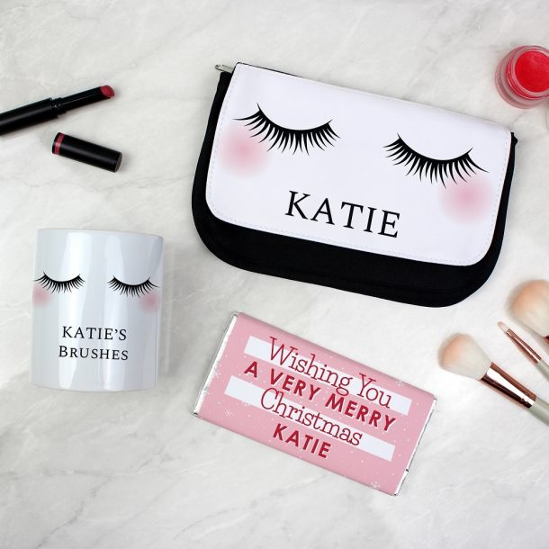 Personalised Eyelashes Christmas Gift Set