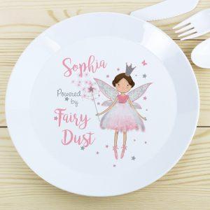 Personalised Fairy Princess Plastic Plate