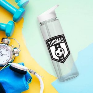Personalised Football Badge Water Bottle