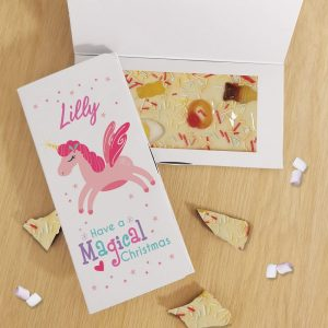 Personalised Magical Christmas White Chocolate Card