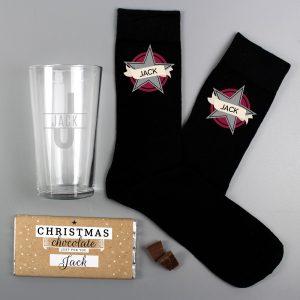Personalised Men's Christmas Gift Set