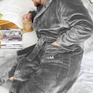 Personalised Men's Dressing Gown