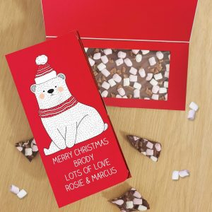 Personalised Polar Bear Milk Chocolate Card