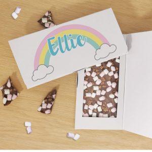 Personalised Rainbow Milk Chocolate Card