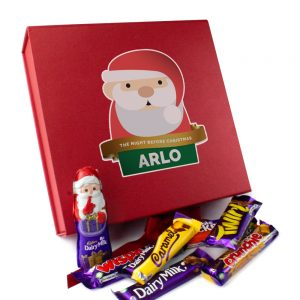Personalised Santa Christmas Eve Box & Selection of Cadbury Chocolates