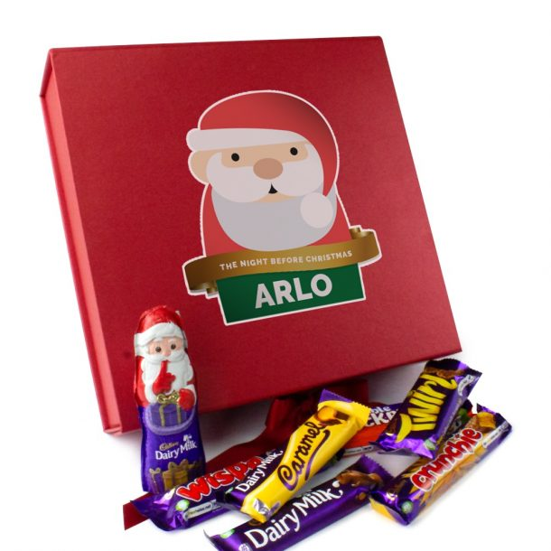 Personalised Santa Christmas Eve Box & Selection of Cadbury Chocolates