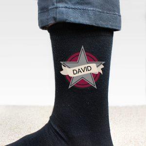 Personalised Star Men's Socks