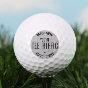 Personalised Tee-riffic Golf Ball