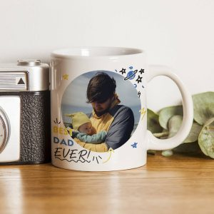 Personalised Best Dad Ever Photo Upload Mug