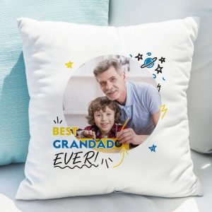 Personalised Best Grandad Ever Photo Upload Cushion
