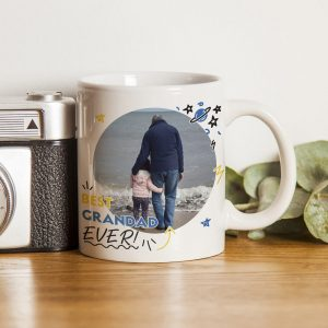 Personalised Best Grandad Ever Photo Upload Mug