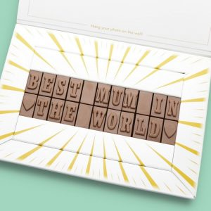Personalised Best Mum In The World Chocolate Bar Photo Upload Card