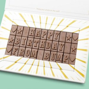 Personalised Happy Birthday From Bump Chocolate Bar Card