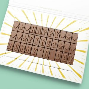 Personalised Happy First Mother's Day Chocolate Bar Photo Upload Card