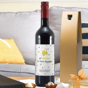 Personalised HotchPotch Go Bananas Red Wine