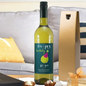 Personalised HotchPotch Ha-pea Birthday White Wine