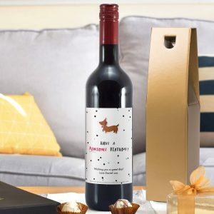 Personalised HotchPotch Pawsome Birthday Red Wine