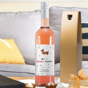 Personalised HotchPotch Pawsome Birthday Rosé Wine
