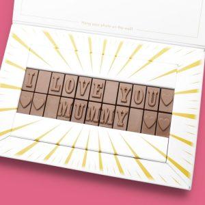 Personalised I Love You Mummy Chocolate Bar Photo Upload Card