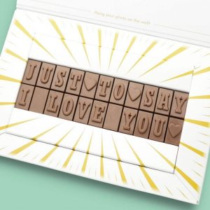 Personalised Just To Say I Love You Chocolate Bar Photo Upload Card