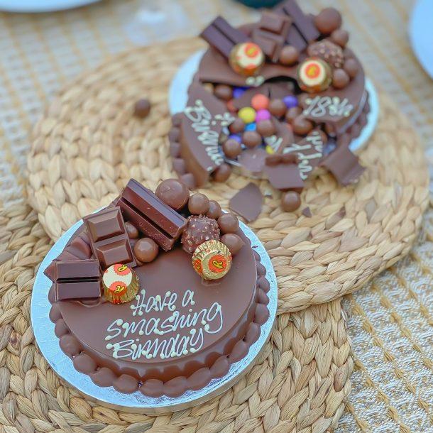 Personalised Mini Chocoholic Smash Cake