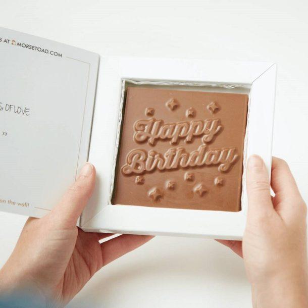 Personalised Photo Upload Happy Birthday Chocolate Bar Card