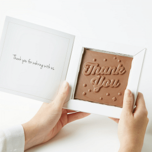 Personalised Photo Upload Thank You Chocolate Bar Card
