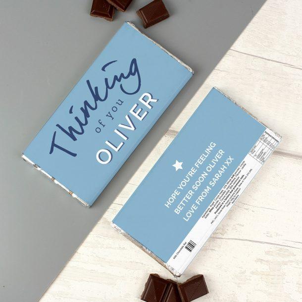 Personalised Thinking of You Milk Chocolate Bar