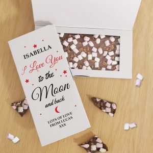 Personalised To The Moon & Back Milk Chocolate Card