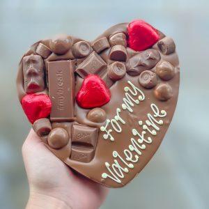 Personalised Valentines Letterbox Chocolate Hug