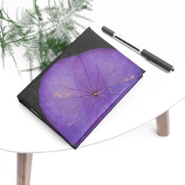 A6 Lotus Notebook - Purple