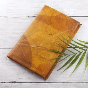 A6 Refillable Leaf Leather Journal - Cinnamon Orange