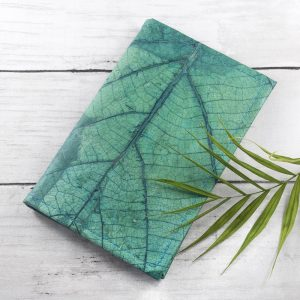 A6 Refillable Leaf Leather Journal - Freshwater Teal