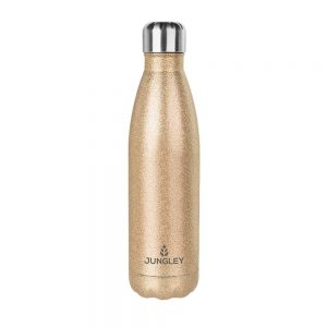 Glitter Insulated Water Bottle - Gold