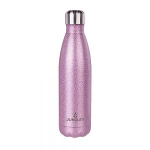 Glitter Insulated Water Bottle - Pink